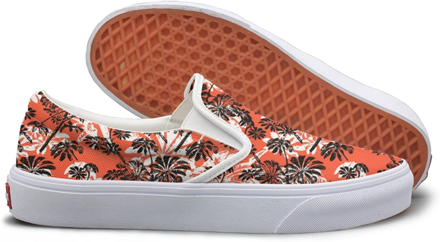Pattern With Tropical Trees And Leaves Canvas shoes Women Casual