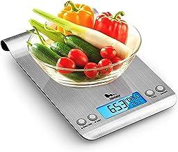 himaly 5kg/1g Balance Cuisine Balances de Cuisine/pâtisserie Electronique Numérique Haute Précision en Acier Inoxydable Ec...