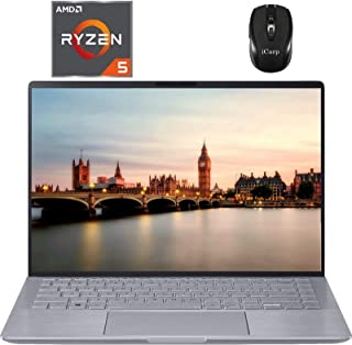 "2020 Newest Asus Zenbook 14 LaptopComputer 14"" FHD WLED AMD Hexa-Core Ryzen 5 4500U (Beats i7-8550U) 8GB DDR4 256GB PCIe ..."