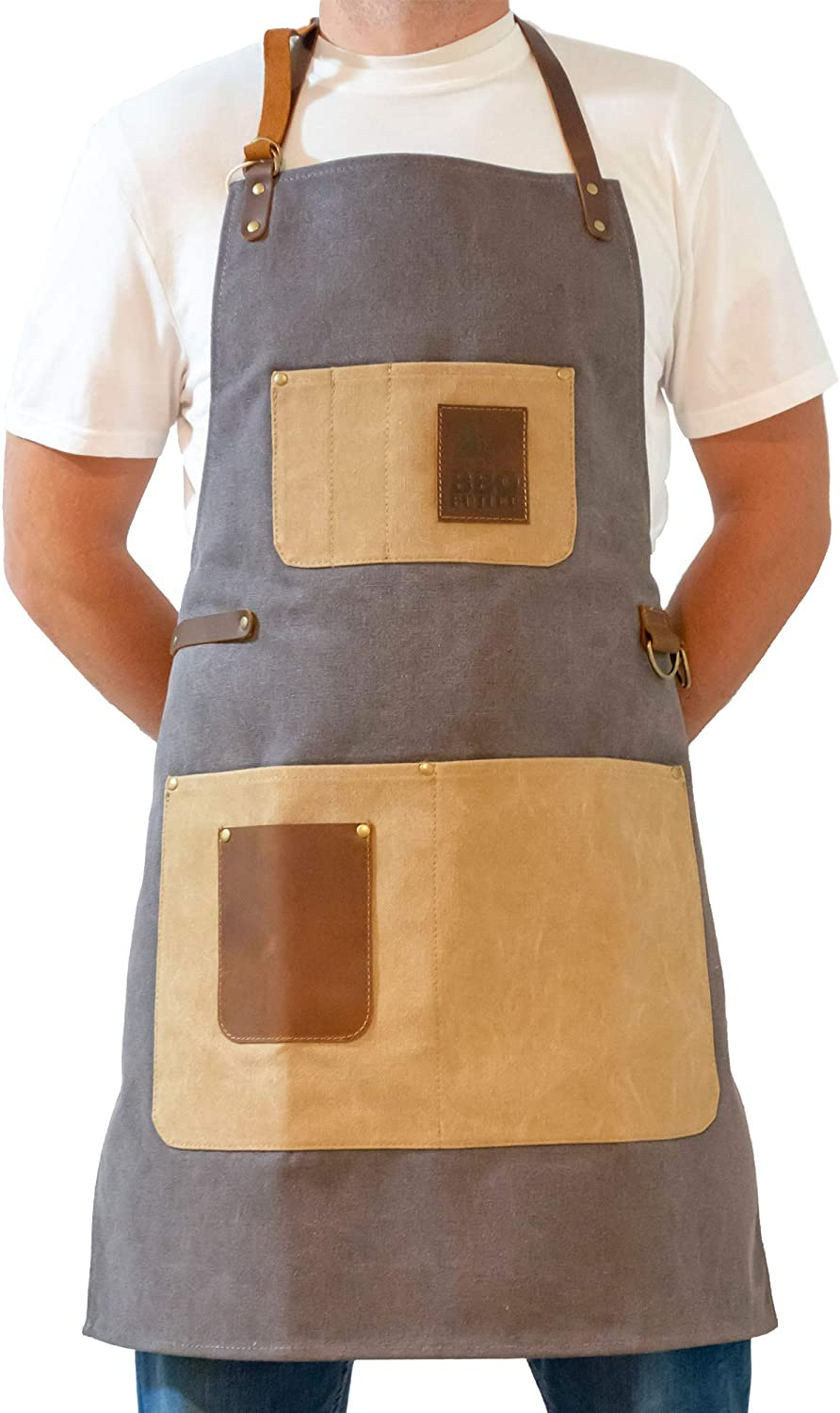 BBQ Butler Challenge the lowest price of Japan Grill Apron Our shop OFFers the best service - Adjustable Canvas Heavy Cooking
