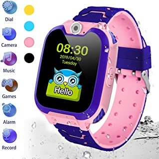 HuaWise Kids Smartwatch[SD Card Included], Waterproof Smartwatch for Kids with Quick Dial, SOS Call, Camera and Music Player, Birthday Gift Game Watch for Boys and Girls(Not Support AT&T)