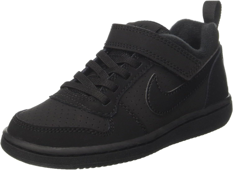 safety Nike 870025-001: Little Kids Court PSV S Black Low Borough Attention brand
