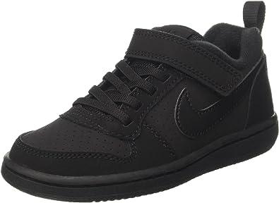 Nike 870025-001: Little Kids Court Borough Low PSV Black/Black Sneakers