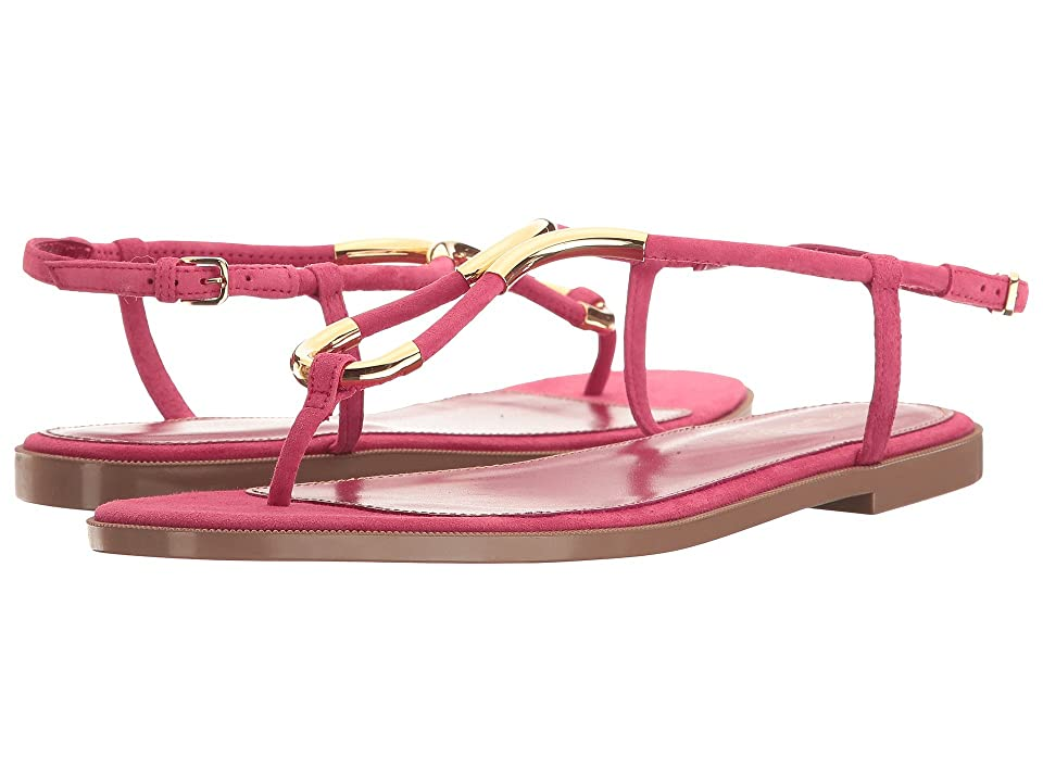 Sergio Rossi Twist Flat (Electric Pink Suede) Women