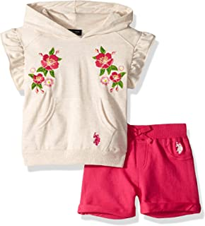 Girls' Toddler Hooded Knit Top and Pull-on Short