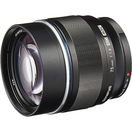 Olympus M.Zuiko Digital ED 75mm F1.8 Lens, for Micro Four Thirds Cameras (Black) (V311040BU000)