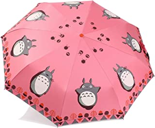 Finex Fully Auto Open/Close Umbrella Totoro - Windproof - UltraSlim, Compact for Easy Carrying (Pink)