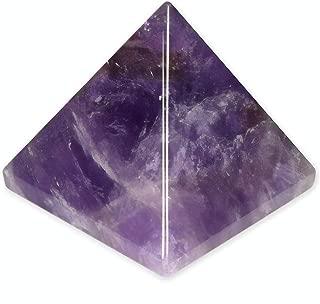 SHIVANSH CREATIONS Healing Crystals Chakra Stones Quartz Pyramid, Reiki Energy Meditation Negative Ion Generator Pyramid for Positive Energy (Amethyst, 25-30 MM)