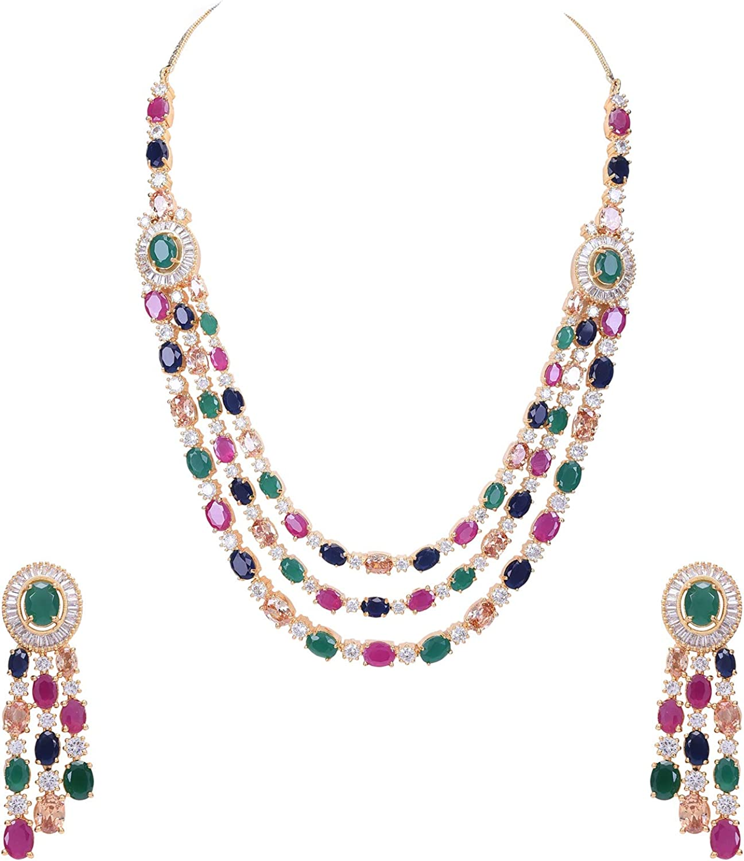 Ratnavali Jewels Cubic Max 64% OFF Spasm price Zirconia Gorgeous Bridal Wedding Multi St