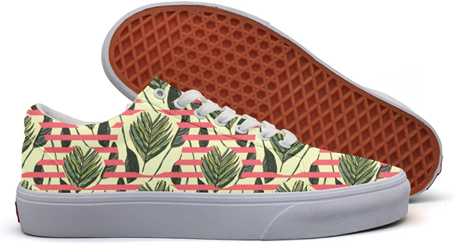 Hawaiian Leaves Women's Casual shoes Sneakers Canvas Cool Low Top Comfortable