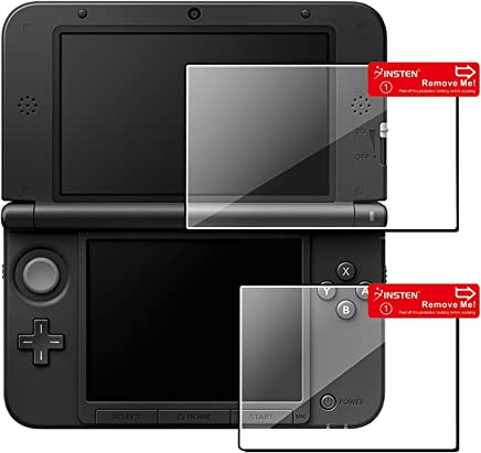 Insten 3 packs of 1 Set Top/ Bottom LCD Screen Protector compatible with Nintendo NEW 3DS XL / NEW 3DS LL / 3DS XL / 3DS LL