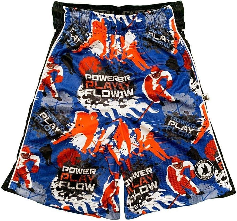 Flow Society Boys' Big Power Play Hockey Shorts - Boys Shorts - Gym Shorts