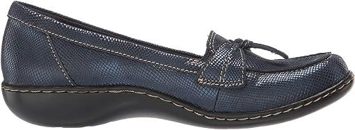 Navy Snake Leather