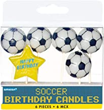 Amscan Soccer Birthday Toothpick Candle Set, Party Decoration