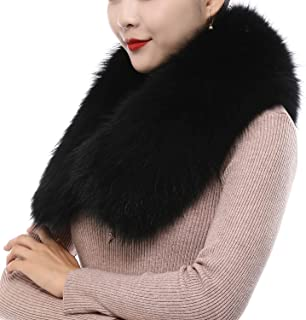 Sponsored Ad - Faux Fur Collar for Women Neck Warmer Scarf Wrap Extra Large Detachable Faux Fur Scarf