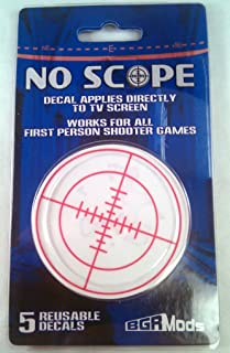 Reusable No Scope Screen Decal for First Person Shooter FPS Games PS3 XBOX 360 PS2 by GamingModz