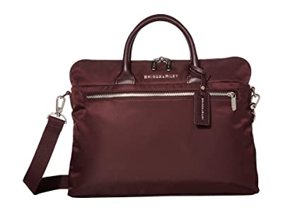 Briggs & Riley Rhapsody Slim Medium Business (Plum) Briefcase Bags