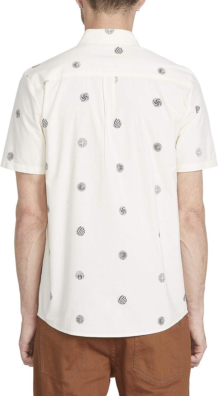 Volcom Mens Op Dot Short Sleeve Button Up Shirt