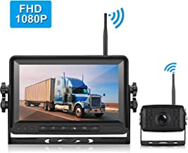 LeeKooLuu FHD 1080P Digital Wireless Rear View Camera, 7'' Monitor IP69K Waterproof Color Night Vision High-Speed Observation System Backup Camera for RVs.Trailers,Box Truck/Motorhomes,5th Wheels