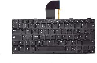 New Genuine OEM Dell Latitude Rugged 14 7404 5404 Extreme Laptop Notebook Keyboard French Canadian Quebec QWERTY Layout Back Light Lit Model NSK-lKBBU 27