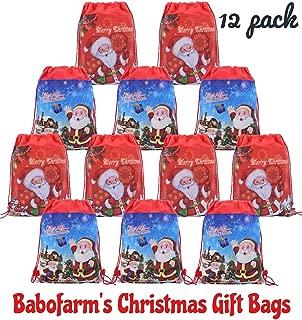 Babofarm's 12 Christmas Santa Drawstring Pouch BACKPACK Bags
