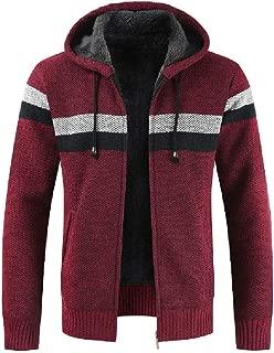 Zip-Up Hooded Sweater Mens Premium Soft and Durable Stripe Hoodie Cardigan Coat