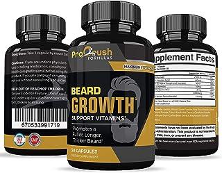 Beard Hair Growth Support Supplement-Achieve a Longer, Thicker, Fuller Beard. Grow a Manlier, Healthier Beard & Mustache. Natural Vitamin for any Beard Grooming Regimen with Biotin for Men.