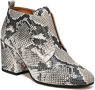 Womens Almond Toe Leather Fashion Boots