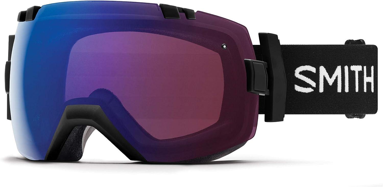 Smith I OX Snow Goggle Black w ChromaPop Photochromic pink Flash and CP Sun Black Lens