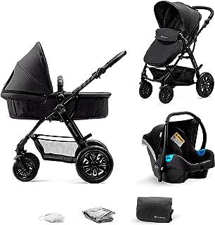 Kinderkraft Barnvagn 3-i-1 MOOV, Travel System, Barnvagnsset, Bilbarnstol, Sittvagn, Resevagn, Extra spädbarnsinlägg, 4 fj...