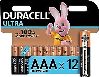 Duracell Ultra AAA Alkaline Batteries, 1.5 V LR03 MN2400, Pack of 12