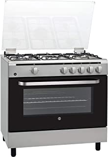 Hoover 90x60 CM Cooker, Full Gas, 5 Gas Burners, Full Safety, Steel, FGC9060-S1V, 1 Year Warranty