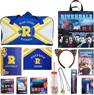 Riverdale Showbag Girls Gift Pack – Stickers Duffle Bag Drink Bottle Wearable Accessories Makeup – Teen Birthday Easter