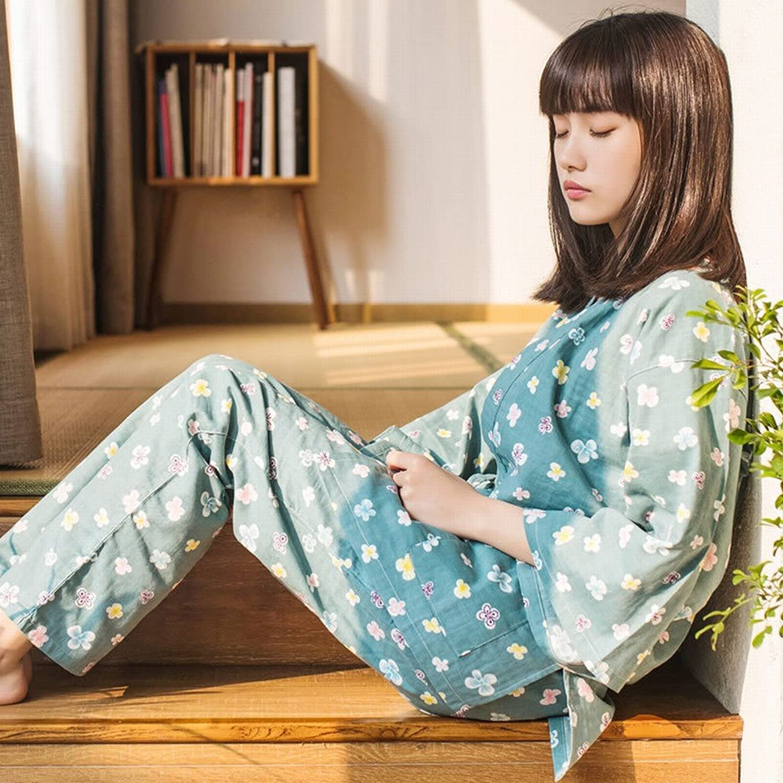 Cherry Blossom Bunny Japanese Kimono Pajamas Two Suit Cardigan Home Service
