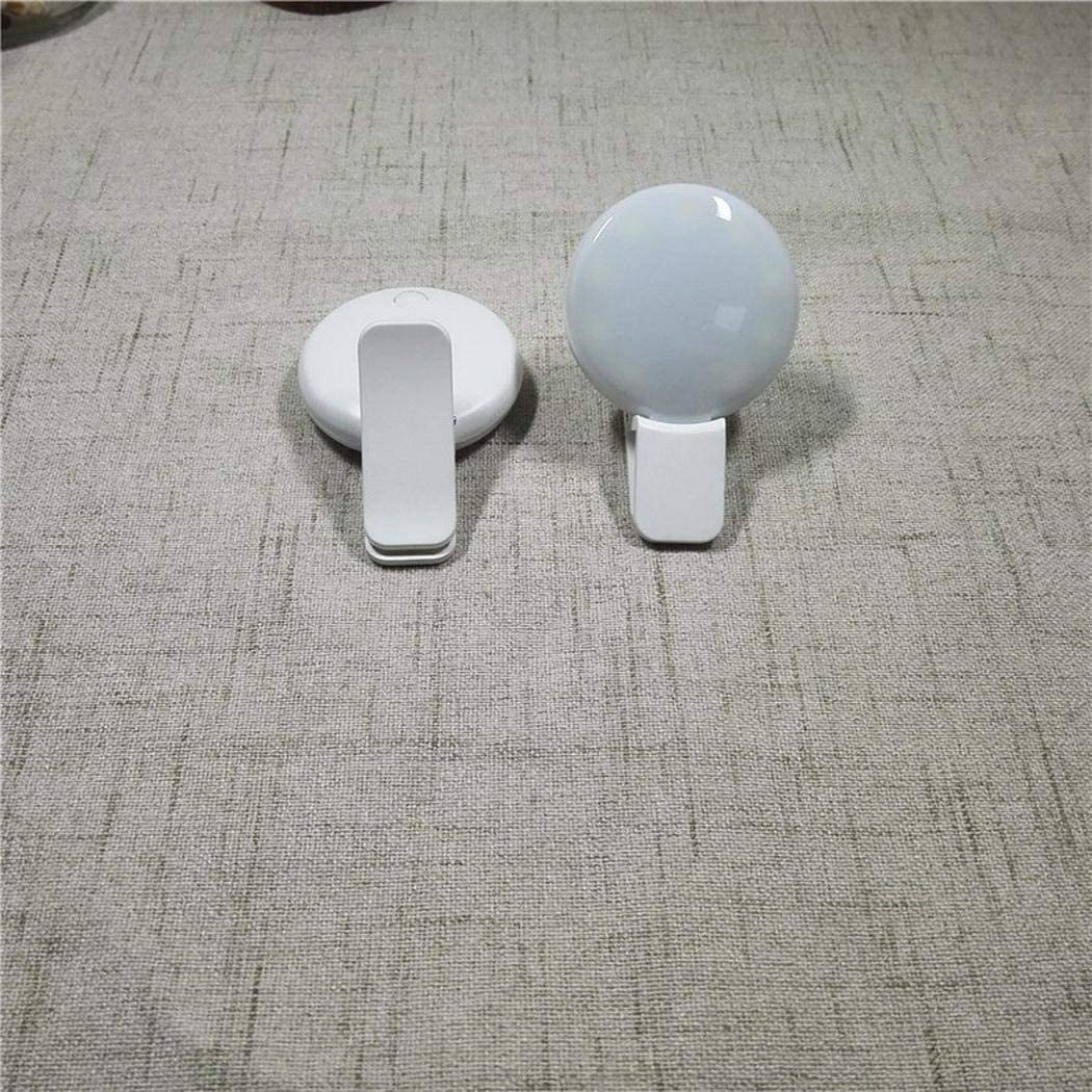 dalina Selfie Ring Light,Portable Mini Round Mobile Phone Tablet Self-Timer Fill Light Clip On-Camera Video Lights