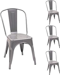 Amazon.es: Sillas Metalicas - Muebles y accesorios de jardín ...