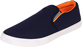 2ROW Men's Canvas Blue Loafers