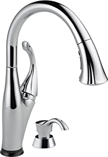 Delta Faucet Addison Single-Handle Touch Kitchen Sink Faucet with Pull Down Sprayer, Soap Dispenser, Touch2O Technology and Magnetic Docking Spray Head, Chrome 9192T-SD-DST