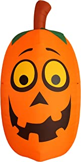 BZB Goods Jumbo Giant 10 Foot Tall Halloween Inflatable Silly Funny Cute Pumpkin Lights Lighted Blowup Party Decoration for Outdoor Indoor Home Garden Family LED Prop Yard Blow Up Lawn Decorations
