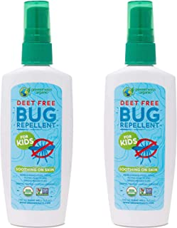 Greenerways Organic Bug Spray for Kids, Kid Friendly Natural Insect Repellent, USDA Organic, Non-GMO, Mosquito-Repellent, Bug Repellant, Clothing Safe, Pet Safe, Baby Safe, DEET-Free (4oz, 2 Pack)