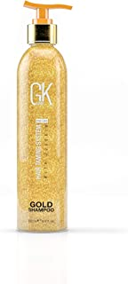 Global Keratin Gkhair Gold Shampoo (250ml/ 8.5 fl. oz) | Hair Smoothing/ Shine | Removes Impurities With Argan Oil, Shea Butter, Natural Oils | All Hair Types