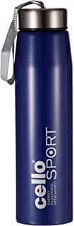 Cello Penta Stainless Steel Water Bottle, Blue, 600 ml