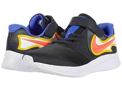 Nike Kids Star Runner 2 Fire (Little Kid) (Black/Metallic Silver/Flint Grey) Kid