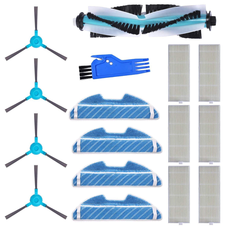MIRTUX Kit de repuestos Conga 1290 y 1390. Pack de Accesorios de Recambio para Robots aspiradora Conga con Cepillo Lateral, Cepillo Central, mopa, Filtro y Herramienta.: Amazon.es: Hogar