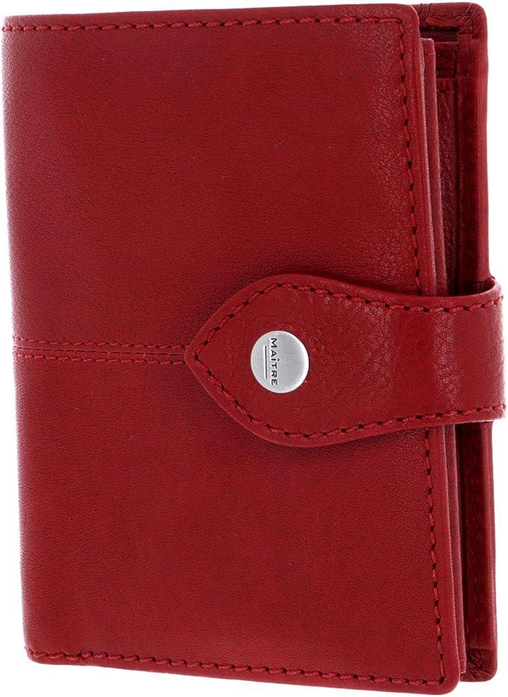 Lemberg dawina purse wallet red, portafogli  in vera pelle, porta carte di credito MV9F
