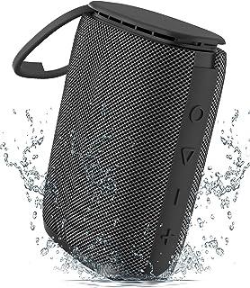 Bluetooth Lautsprecher, Sewowibo Tragbarer Kabelloser Bluetooth 5.0 Musikbox mit IPX7 wasserdichte Dusche Deep Bass Stereo Sound, Support TF Karte und Freisprechfunktion, ideal für Pool Outdoor Party