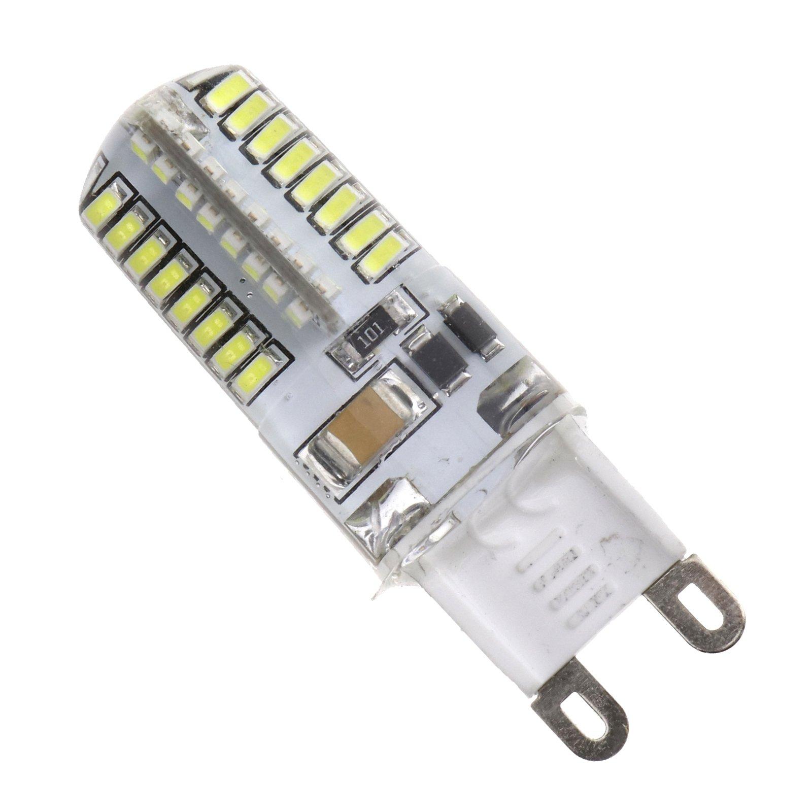 YINETTECH 5X G9 3W LED Bombilla 3014 64 SMD Luz 6000K Blanco Frío Recambio CE ROHS: Amazon.es: Hogar