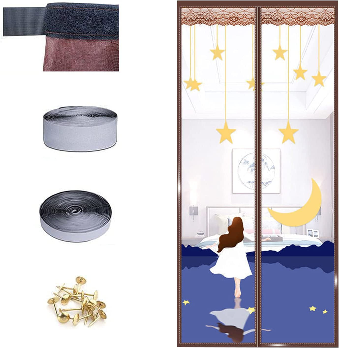 Upgraded Version Now on sale Magnetic Screen Door Frame HookLoo Full - Max 43% OFF with