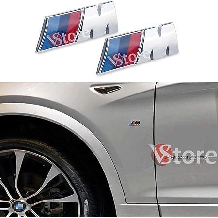 Vs 2 X M Sport M Power Plaketten Für Kotflügel Und Stoßstange Silber Metallisch Kompatibel Auto