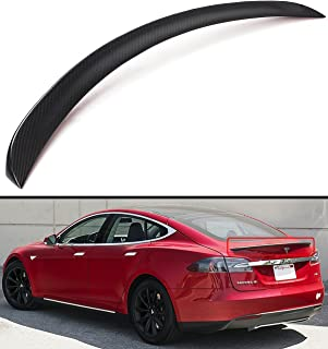 Cuztom Tuning Matt Matte Dry Carbon Fiber Sport Trunk Lid Spoiler Wing for 2012-2019 Tesla Model S 75D P85 P90D P100D